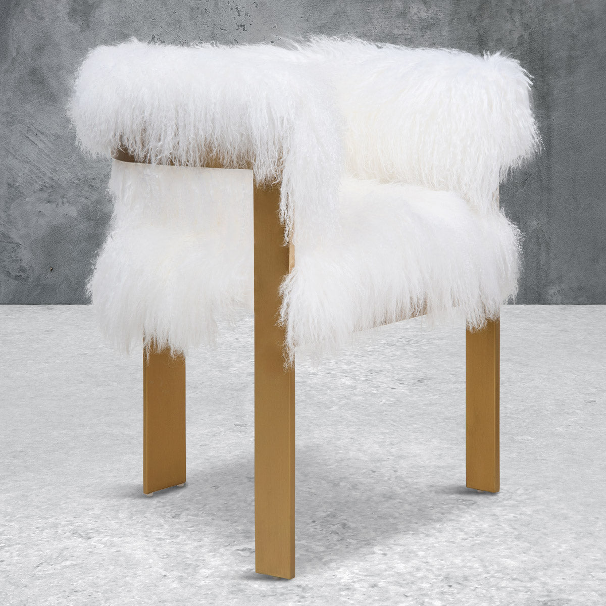 Marseille Dining Chair in Mongolian Fur