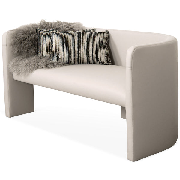 Martinique Loveseat in Faux Leather - ModShop1.com