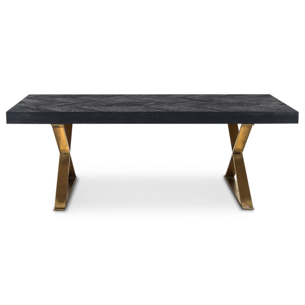Bordeaux Dining Table with Brass X-Legs - ModShop1.com