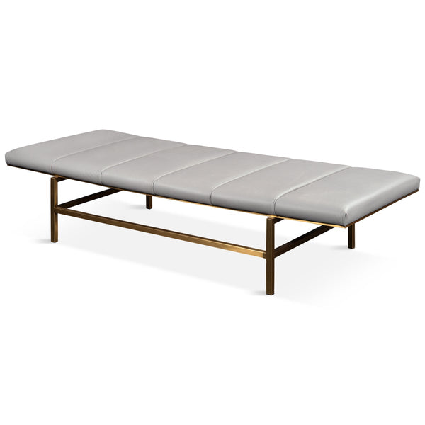 Mid-Century Bench in Brushed Brass