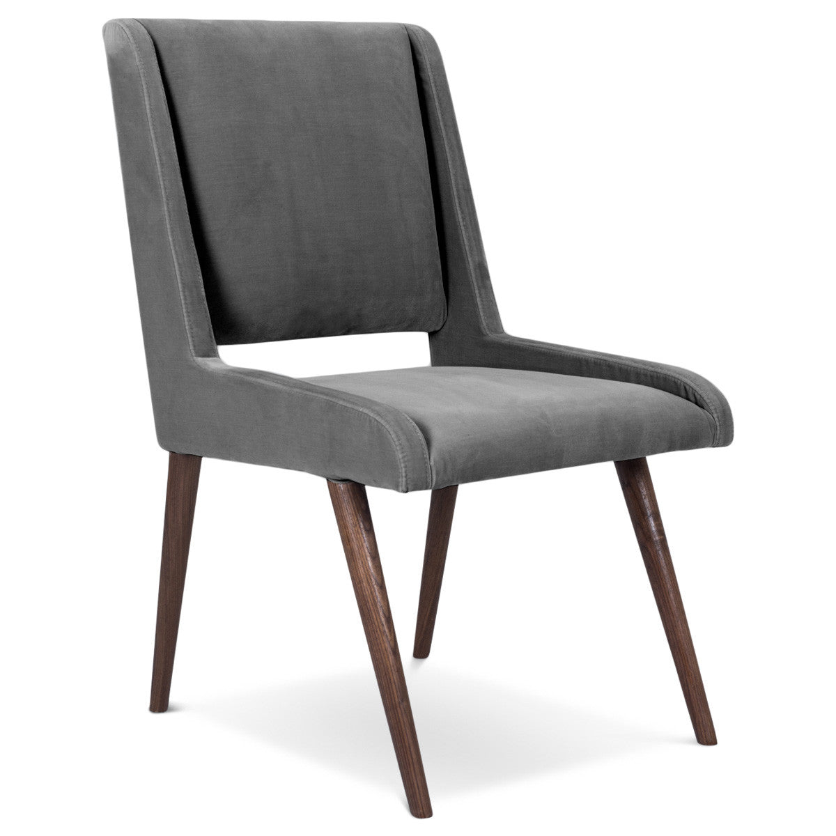 Superieur Mid Century Dining Chair In Velvet