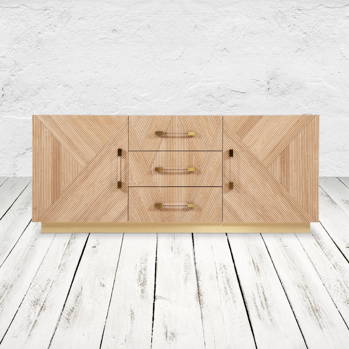 Milan 2 Door 3 Drawer Credenza in Ash