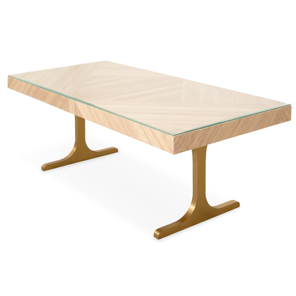 Milan Dining Table in Ash - ModShop1.com