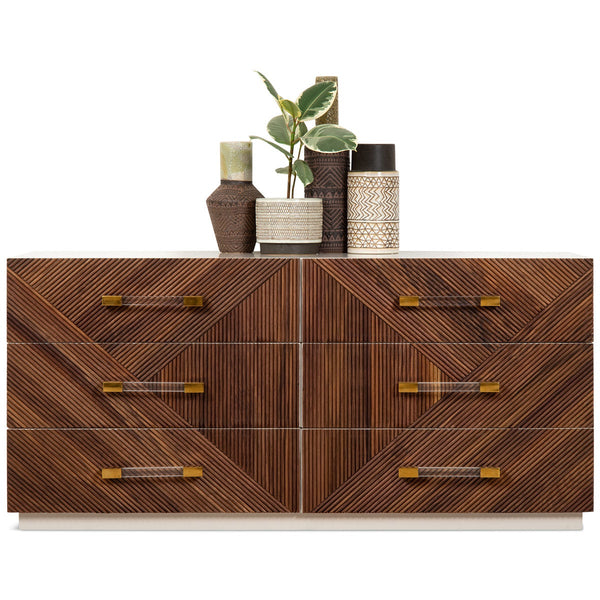 Milan 6 Drawer Dresser in Oiled Walnut - ModShop1.com