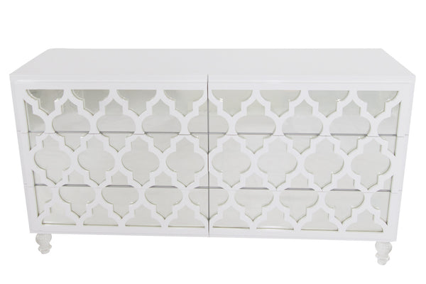 Mirrored Tangier Dresser in White