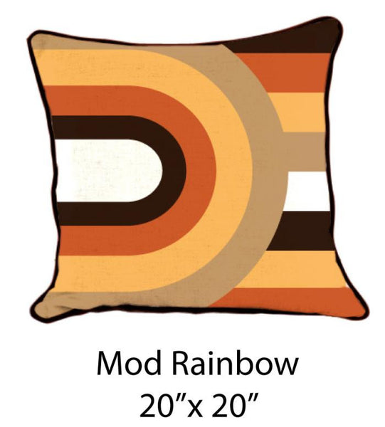 Mod Rainbow White/Orange/Brown/Mustard/Sand