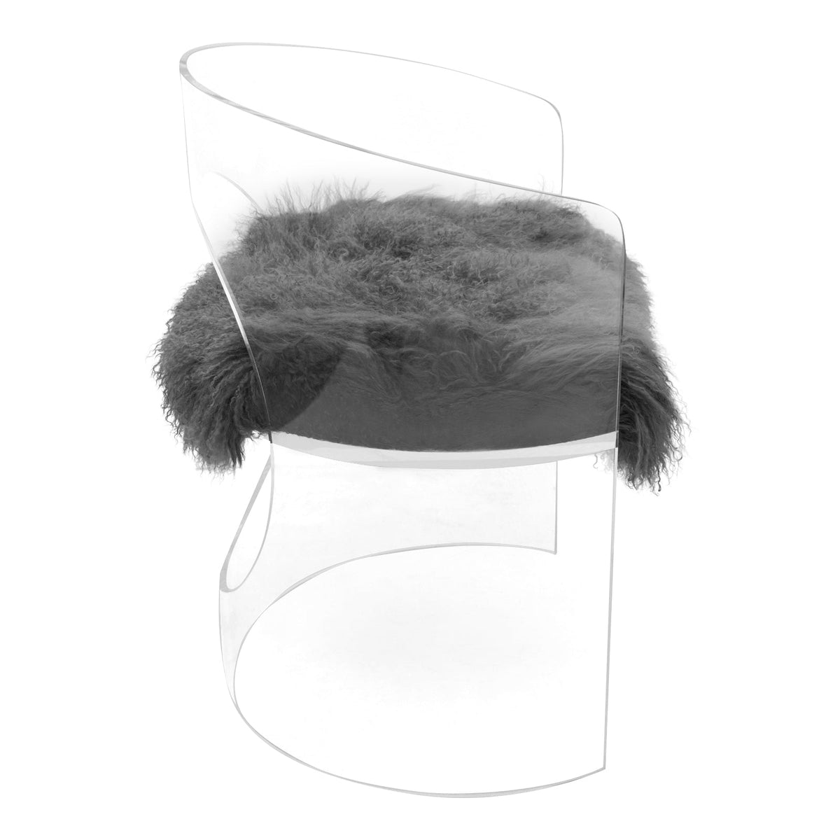 Monaco Dining Chair with Mongolian Fur - ModShop1.com