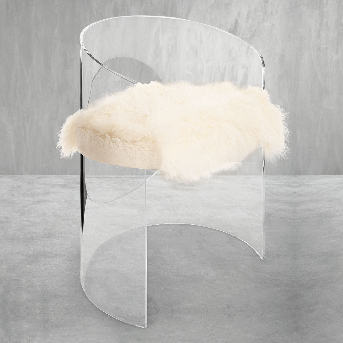 Monaco Dining Chair with Mongolian Fur