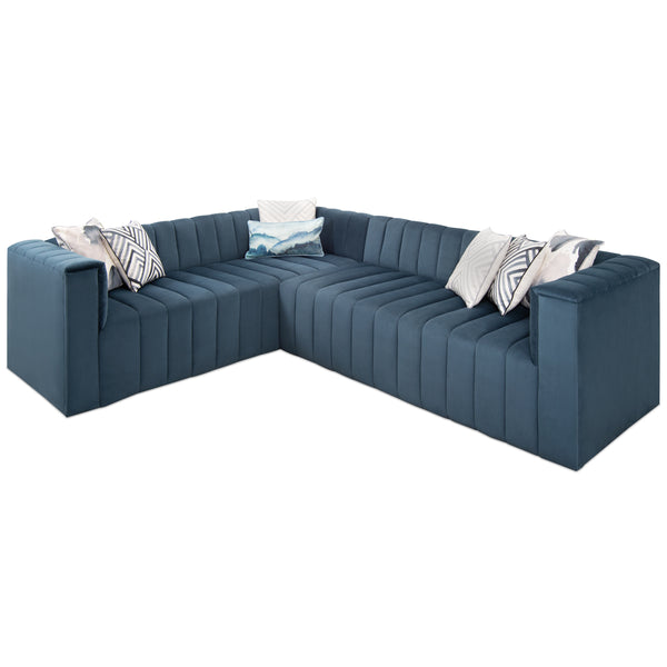Monaco Sectional In Velvet