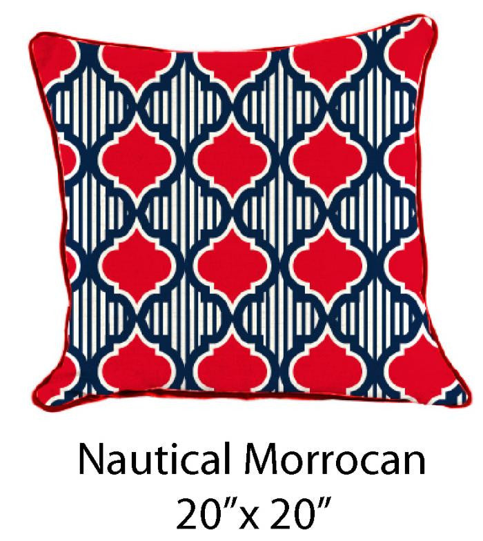 Nautical Morrocan Red/Navy/White - ModShop1.com