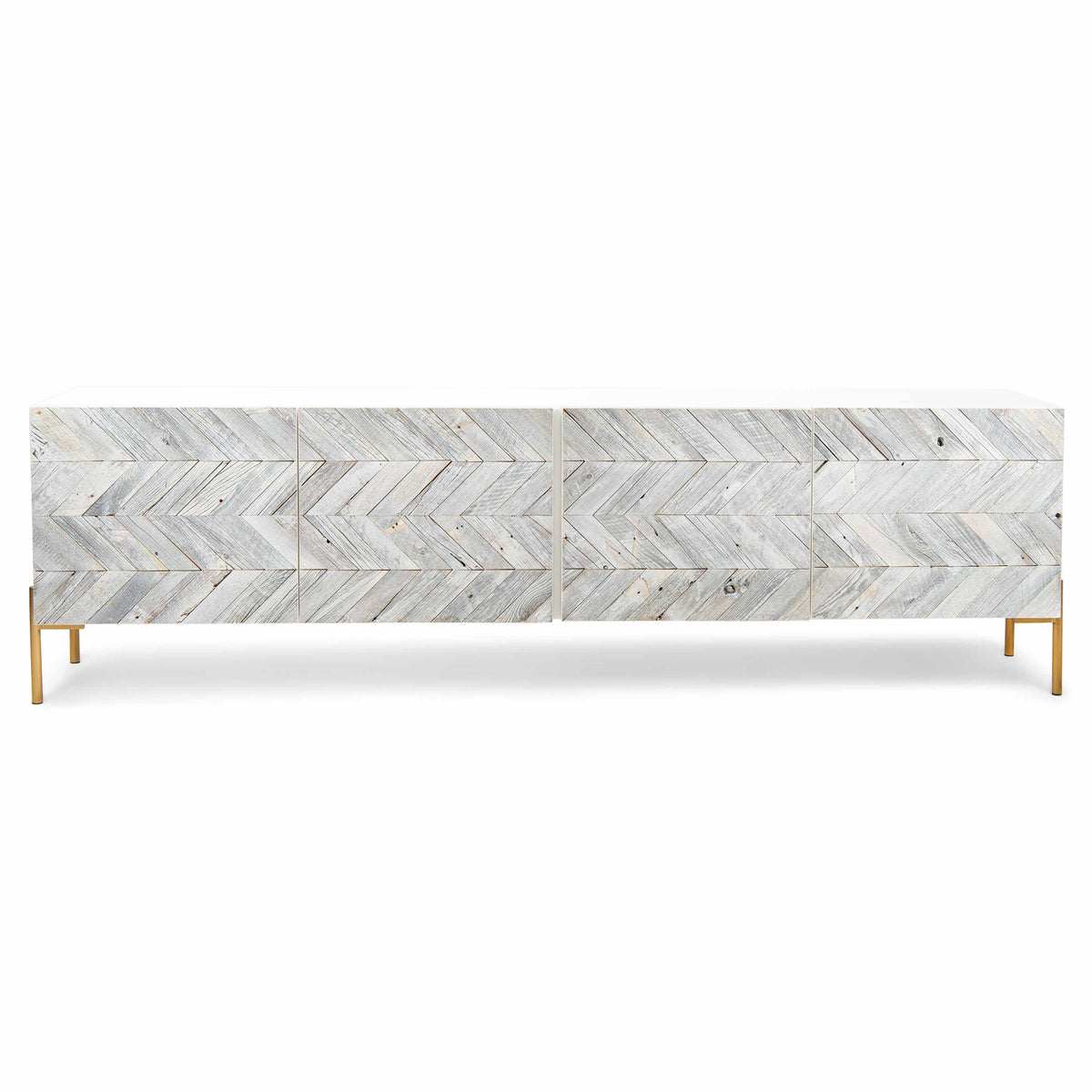 Mr. Smith Credenza in White Washed Recycled Wood