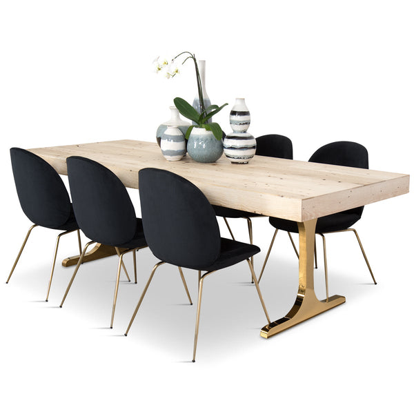 White Wash Wood Dining Table: Modern Dining Tables Online