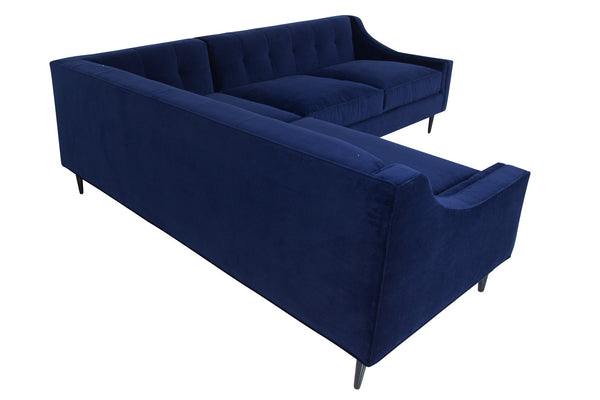 Audrey Sectional in Navy Velvet - ModShop1.com