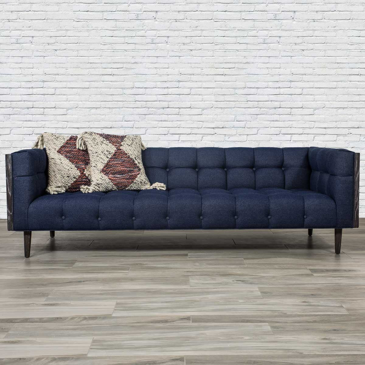 Mid Century Sofa In Dark Navy Raw Denim Modshop