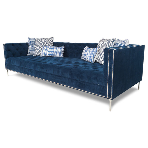 New Deep Sofa in Navy Velvet - ModShop1.com