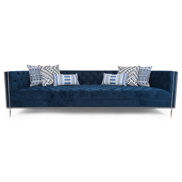 New Deep Sofa in Navy Velvet