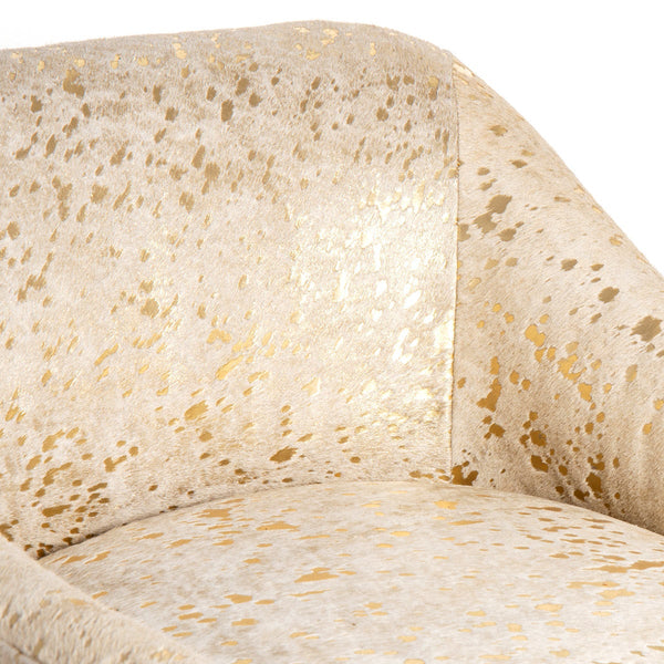 Nice Occasional Chair in Cowhide