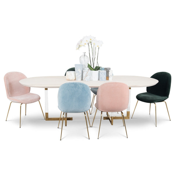 Modern Dining Tables Online Tagged Casegoods ModShop - Modern oval dining table with leaf