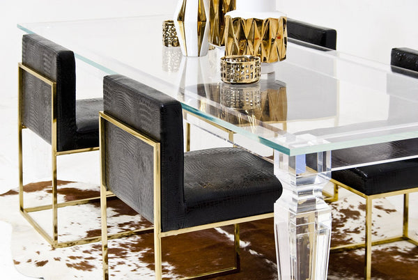 Palm Beach Lucite Dining Table