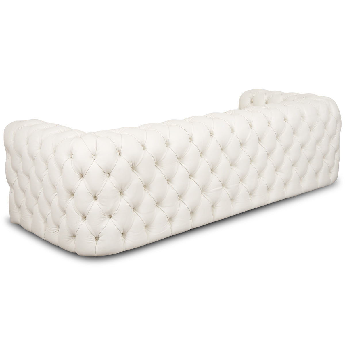 Palm Beach Sofa in White Leather - ModShop1.com