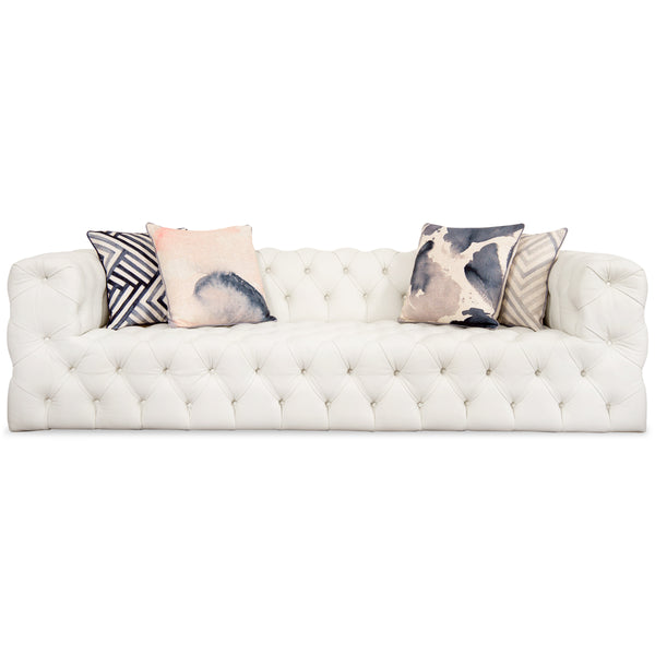 Palm Beach Sofa in White Leather