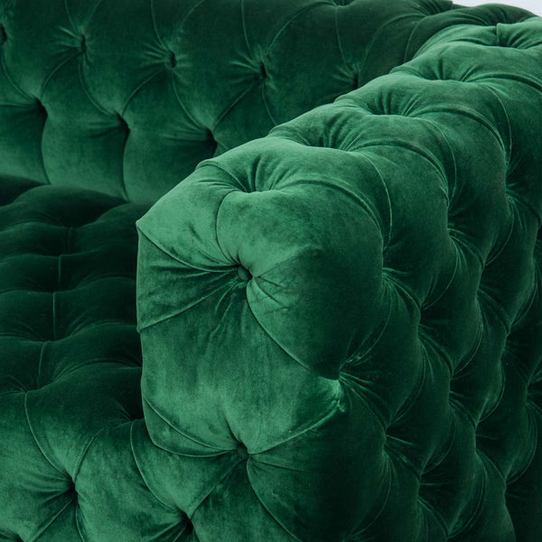 Palm Beach Sofa in Emerald Velvet