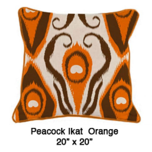 Peacock Ikat Orange