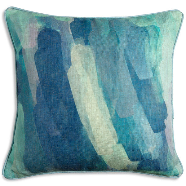 Abstract Cool Tones Pillow
