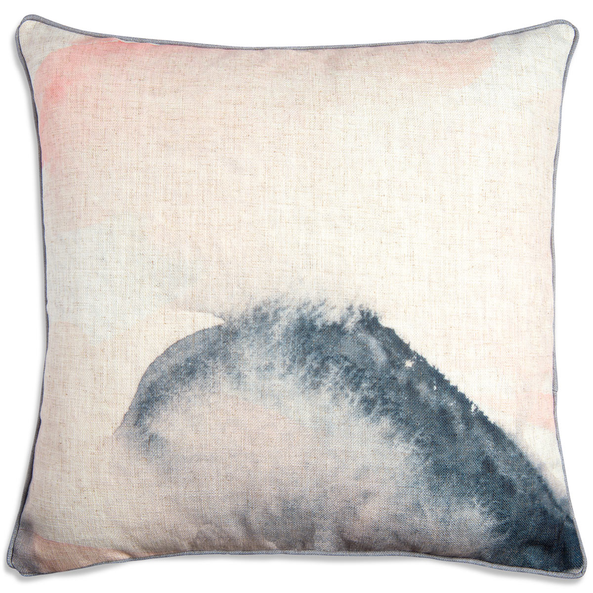 Blush Abstract Greywelt Pillow - ModShop1.com