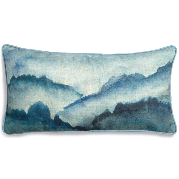 Abstract Landscape Lumbar Pillow