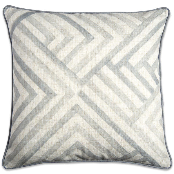 Modern Geometric Watercolor Pillow Grey - ModShop1.com