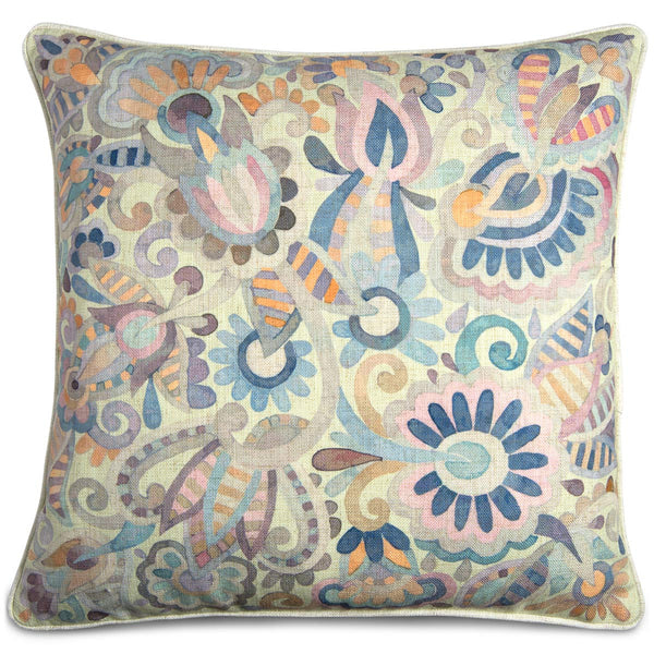 Pastel Watercolor Floral Pillow - ModShop1.com