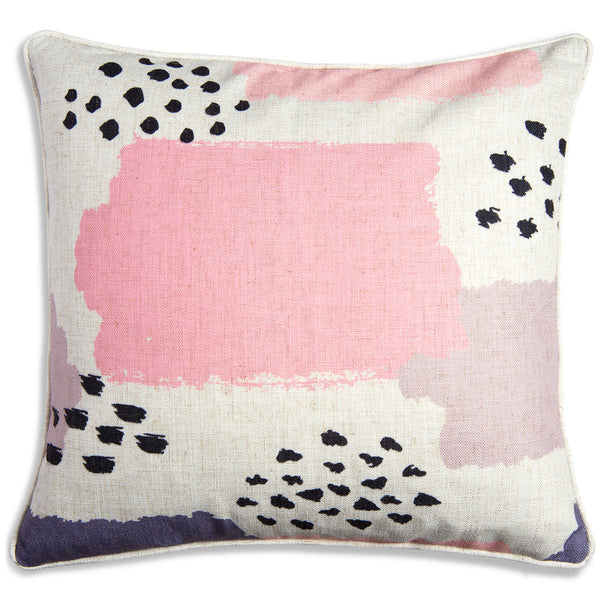 Pink Polkadot Abstract Pillow - ModShop1.com