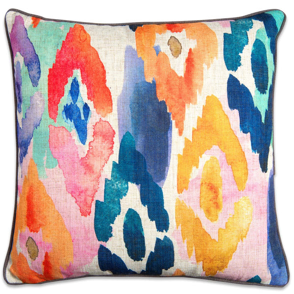 Watercolor Ikat Pillow