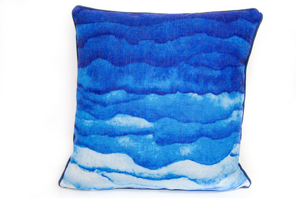 Blue Watercolor Waves - ModShop1.com