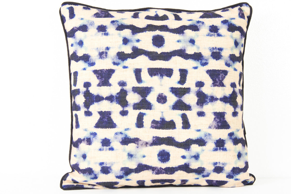 Indigo Abstract Pillow - ModShop1.com