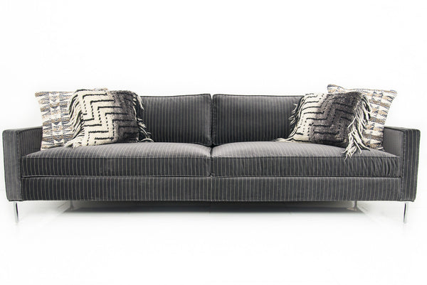 Audrey Sofa in Pinstripe Charcoal