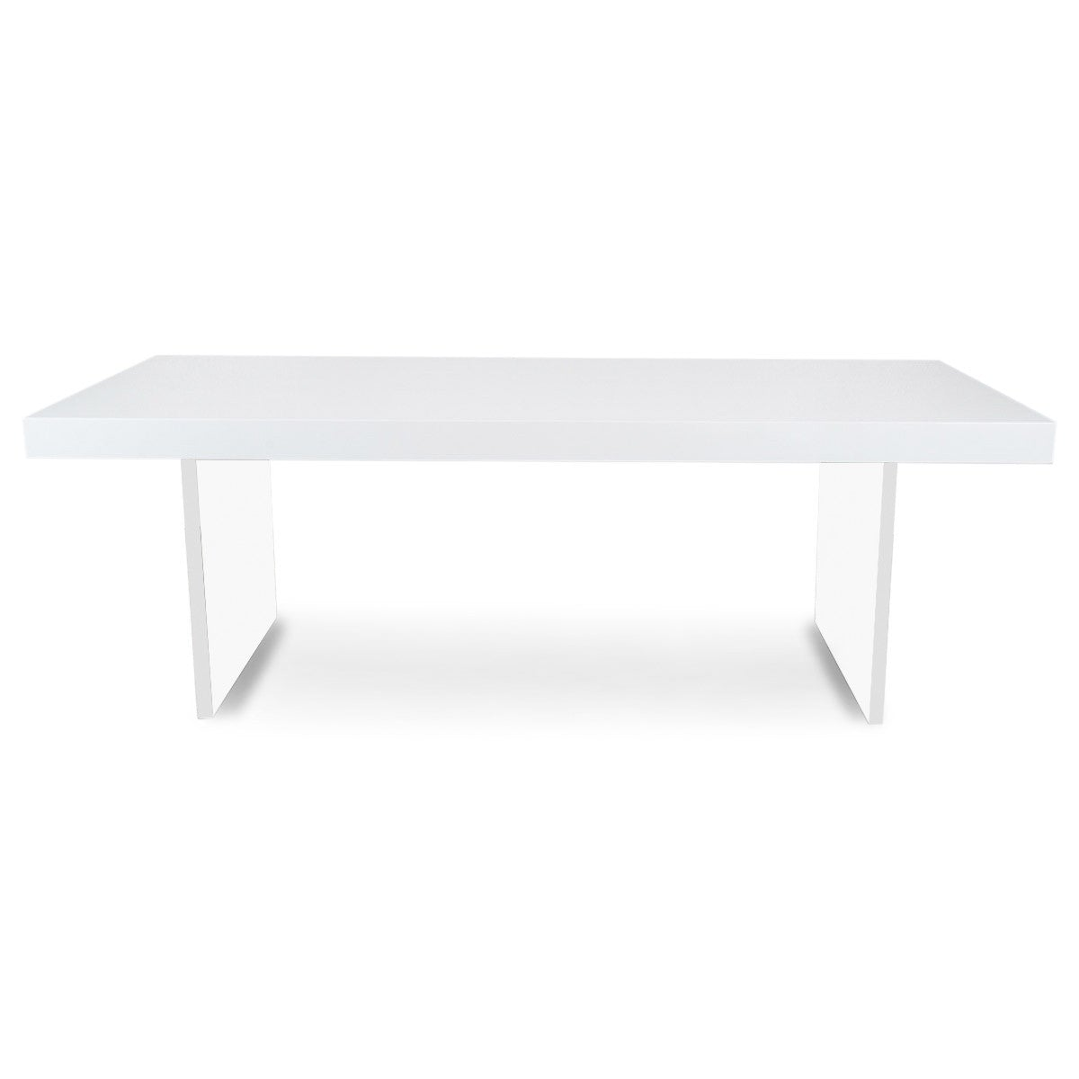 Lucite Plinth Leg Dining Table in White ModShop : plinth lucite leg dining table 4 from modshop1.com size 1200 x 1200 jpeg 19kB