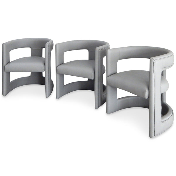 Positano Dining Chair in Faux Leather (Set of 3)