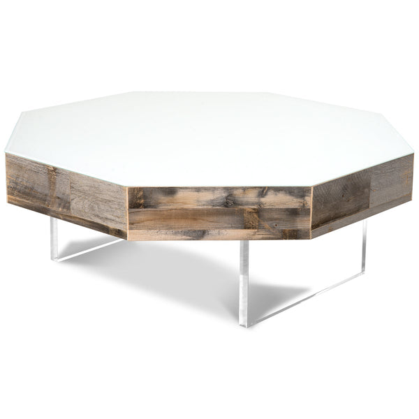 Mirrored Octagon Coffee Table: Modern Octagon Coffee Table