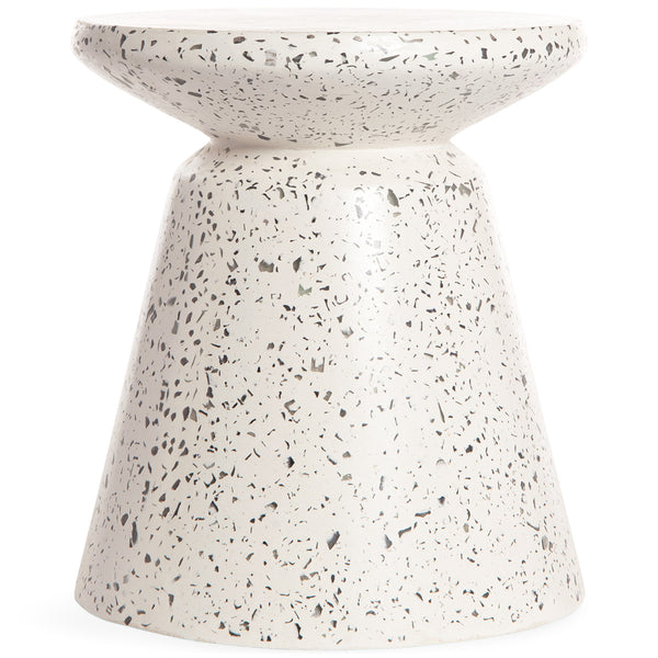 Saigon Side Table in Light Terrazzo