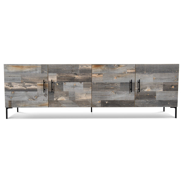 Santiago Credenza with Dark Grey Recycled Wood
