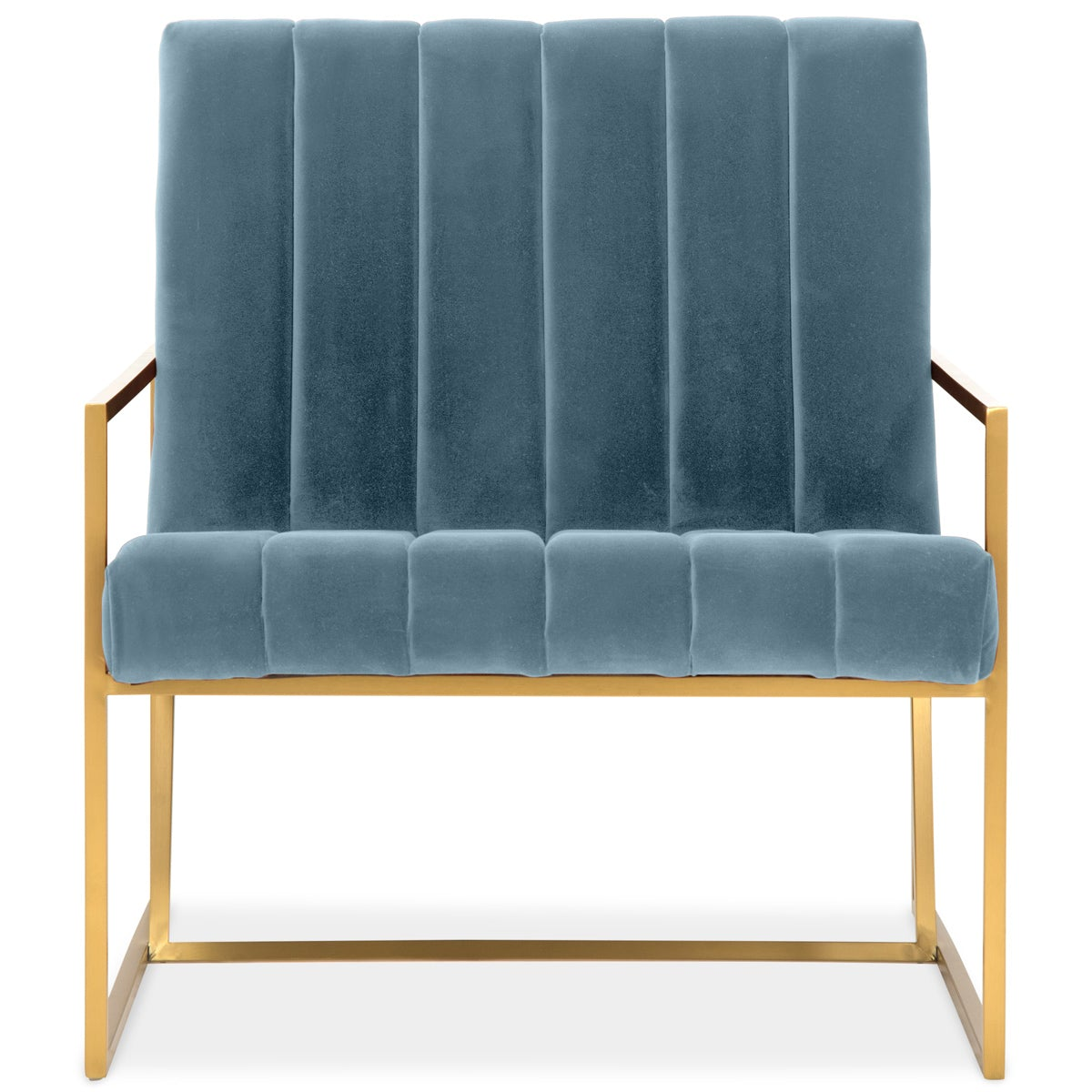 Santorini Chair in Fat Channel Tufted Velvet - ModShop1.com