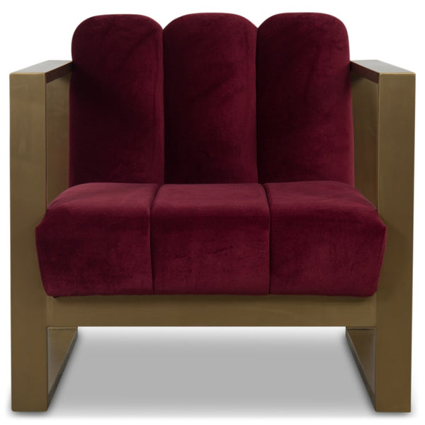Scallop Kube Chair in Velvet