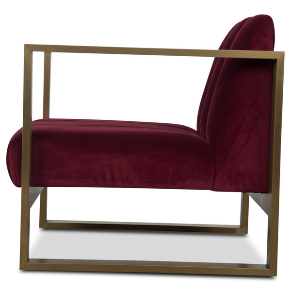 Scallop Kube Chair in Velvet - ModShop1.com
