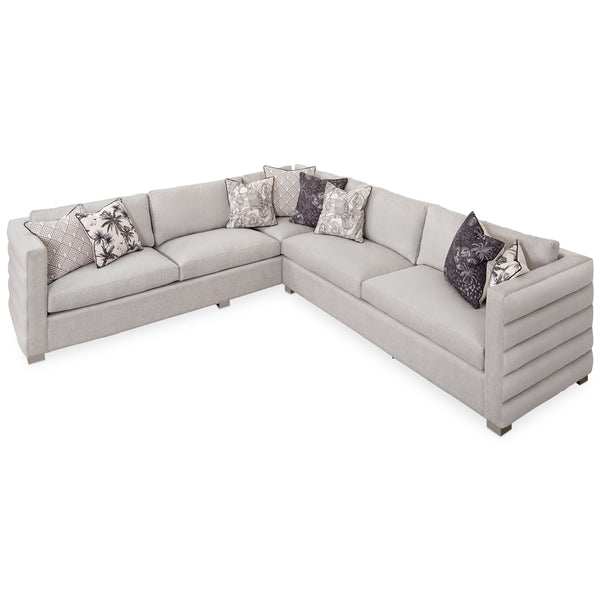 Shoreclub Sectional with Channel Tufting
