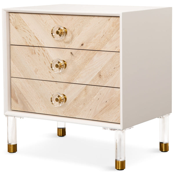 Sicily 3 Drawer Side Table - ModShop1.com