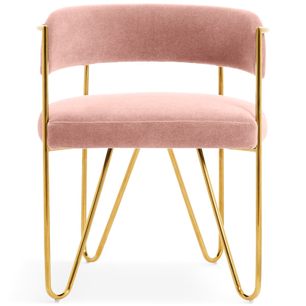 Sicily Dining Chair in Mohair - ModShop1.com