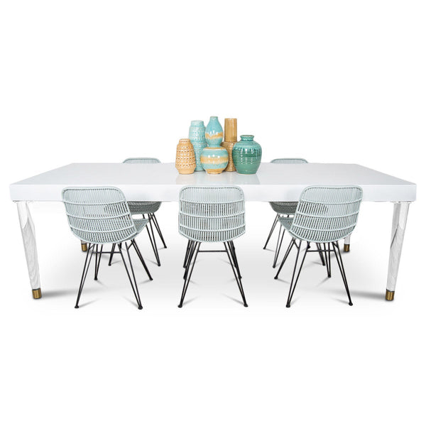 Sicily Dining Table in White