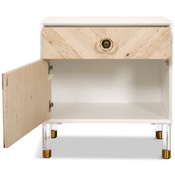 Sicily 1 Drawer 1 Door Side Table - ModShop1.com